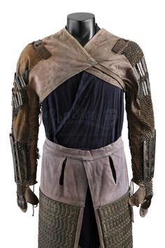 Samurai arming garments (worn under the main cuirass.) The armored sleeves are 'kote'; the thigh-guards are 'haidate.'