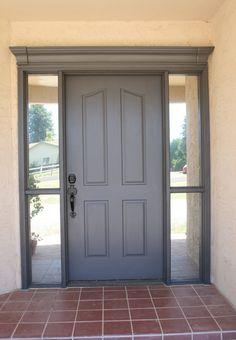 Front door frame molding curb appeal Ideas for 2019 - Home & DIY Front Door Colors, Front Door Decor, Front Doors, Front Entry, Garage Doors, Exterior Trim, Exterior Doors, Door Frame Molding, Front Door Makeover
