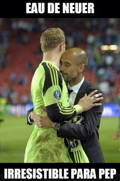 Manuel Neuer and Pep Guardiola Funny Soccer Pictures, Soccer Pics, Germany Football, German Boys, Pep Guardiola, Football Fans, Liverpool Fc, Soccer Players, Dream Team