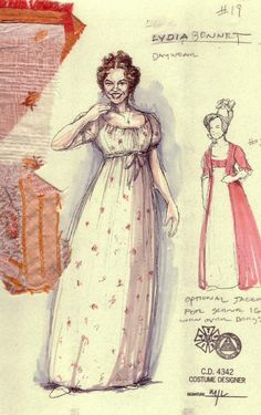 Pride and Prejudice, 2005 Costume designs by Mathew J. Historical Costume, Historical Clothing, Jane Austen, Costume Design Sketch, Vintage Outfits, Vintage Fashion, 19th Century Fashion, Beautiful Costumes, Movie Costumes