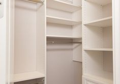 Master Closet with Custom Closet System