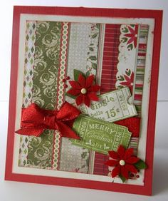 Christmas Card by Authentique Paper DT member Emily Lanham Stamped Christmas Cards, Christmas Card Crafts, Christmas Cards To Make, Xmas Cards, Handmade Christmas, Holiday Cards, Christmas Scrapbook, Card Making Inspiration, Making Ideas