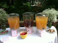 """""""Baby Bellini Martini"""", """"BGH's Dollhouse Blend"""", & """"Mommy's Bellini Martini"""" #babyshower #creativecocktails #specialtycocktails"""