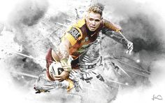 Brisbane Broncos NRL Artwork on Behance