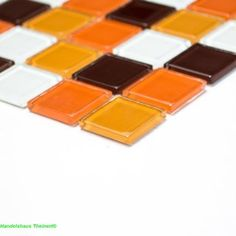 Crystal Glasmosaik mix 70er Retro klar 2,5 x 2,5 x 0,4 cm
