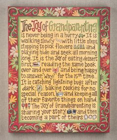 'Joy of Grandparenting' Canvas Art
