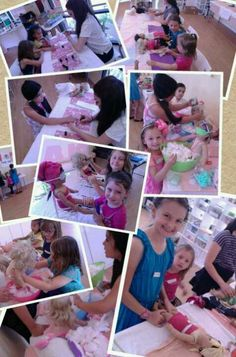 American Girl spa party event