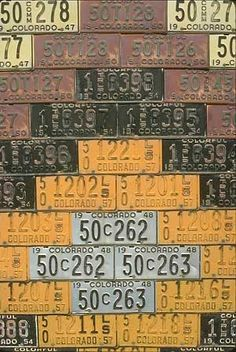 Colorado license plates.  telluride 27