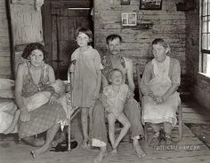 Walker Evans, Sharecropper Bud Fields and his family at home. Hale County, Alabama. 1935 by sheree