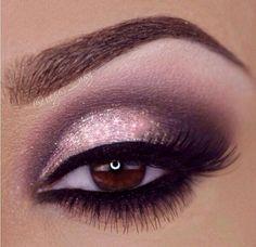 I love purple on my dark brown eyes