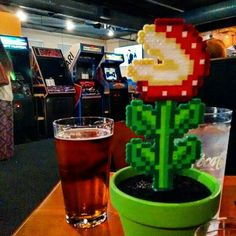 """""""Daniel Horton: Finally trying this place out!"""" #Huntsville Pints and Pixels #beer #arcade #piranhaplant"""