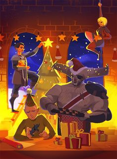 A very merry Dragon Age'y Christmas! by Art of Powersimon/Tumblr: