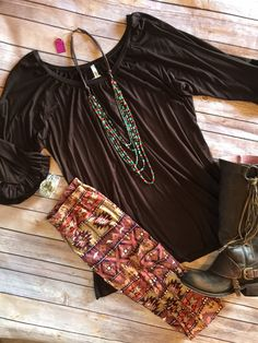 Plus size brown aztec leggings. Super soft peachskin. Very stretchy and comfy…