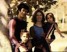 Bruce Lee with Family