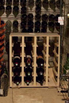 Casiers bouteilles casier vin rangement du vin am nagement cave casier bois cave vin for Range bouteille fait maison