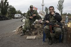 Pro-Russian rebels in Donetsk region (Ukraine)