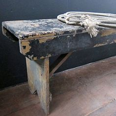 PRIMITIVE BENCH~ALWAYS a Favorite at American Home & Garden in Ventura CA