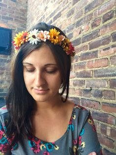 A personal favorite from my Etsy shop https://www.etsy.com/listing/179433925/multi-colored-flower-headband-flower
