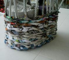 Tuto de vannerie en papier: petit sac.