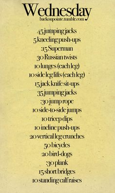 Short workouts:)