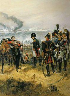Ratisbona, un edecán herido informa a Napoleón. Richard Caton Woodville Más en www.elgrancapitan.org/foro