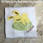 Sleeping Bunny Applique Design