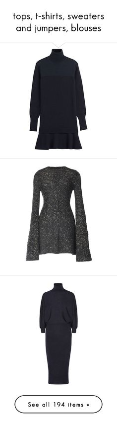 """""""tops, t-shirts, sweaters and jumpers, blouses"""" by shivabglr ❤ liked on Polyvore featuring dresses, blue, long sleeve turtleneck, turtleneck sweater dress, flared skirt, sweater dress, oversized sweater dress, woolen dress, wool sweater dress and wool dress"""