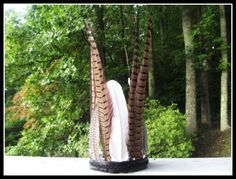 Forest Queen feather crown natural big feathers by dieselboutique