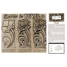 Leathercraft Library - Learn to Bevel by Al Stohlman (Series 12 Page 3)
