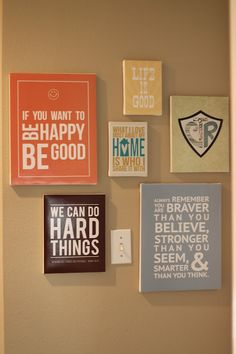 Printables to Make a Quote Wall - from Pinching Your Pennies