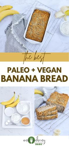 Naturally sweetened and with the best texture, this Paleo Banana Bread is made with honey, cassava flour, and coconut shreds. Use those ripe bananas for this gluten-free banana bread and have a healthy breakfast today! Ana Ankeny - Healthy Recipes