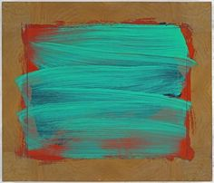 Howard Hodgkin Green Thoughts 2007 - 2009 22 ⅝ x 26 x Painting Oil on wood. 'Annihilating all that's made / To a green thought, in a green shade', Andrew Marvell, 'The Garden'. Howard Hodgkin, Gagosian Gallery, Glasgow School Of Art, Blue Art, Collage Art, New Art, Painting & Drawing, Abstract Art, Abstract Paintings