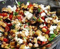 Roasted Eggplant Salad with Goat Cheese - seriously so delicious! Nate was skeptical at first, but loved it once he tasted it.) the dead Roasted Eggplant Salad with Goat Cheese – 3 Points Roasted Eggplant Salad, Roast Eggplant, Goat Cheese Recipes, Goat Cheese Salad, Summer Salad Recipes, Summer Salads, Vegetarian Recipes, Cooking Recipes, Healthy Recipes