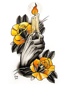 candle tattoo - Google Search