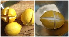 Cool Cut 1 Lemon In 4 Parts Put Some Salt On It And Put It In The Middle Of The Kitchen This Trick Will Change Your Life