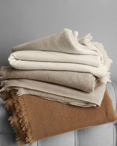 Eileen Fisher Fringed Cashmere Throw