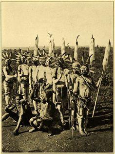 1909 Print Dance Dancing Portrait Kikuyu Tribe Dutkewich Africa Headdress XGB8 - Period Paper