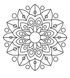 Mandala Design, Mandala Dots, Flower Mandala, Mandala Pattern, Coloring Book Art, Mandala Coloring Pages, Colouring Pages, Adult Coloring Pages, Mandala Drawing