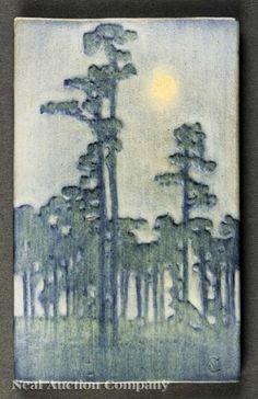 Newcomb College Art Pottery Matte Glaze Plaque