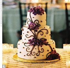 Tri-Sigma Wedding? Purple and White :)