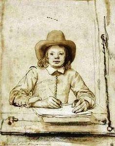 Dutch Art - Netherlands Drawing - Samuel van Hoogstraten - Self portrait