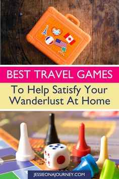 Looking for the best travel games to play home? These fun travel board games and card games can help satisfy your wanderlust without needing to get off the couch! // games for adults Fun Travel, Travel Themes, Travel With Kids, Travel Tips, Virtual Travel, Fun Games, Games To Play, Best Travel Guides, Seven Wonders