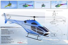 Cicare CH-16 helicopter | por Sentidos design - Indalecio Sabbioni