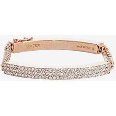 Vita Fede Crystal Tube Chain Bracelet ($428) ❤ liked on Polyvore featuring jewelry, bracelets, rose, vita fede jewellery, crystal jewellery, rose jewellery, rose jewelry and vita fede jewelry