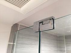 Newly renovated Small bathroom in Passaic county of Wayne NJ frameless shower door/ enclosures installation. Bathroom Shower Doors, Small Bathroom With Shower, Frameless Shower Doors, Glass Shower Enclosures, Modern Shower, Home Interior Design, Interior Design