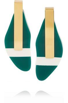Marni | Gold-plated resin earrings | NET-A-PORTER.COM