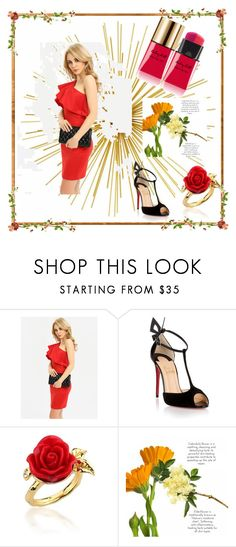"""""""women fashion"""" by amela-367 ❤ liked on Polyvore featuring Christian Louboutin, Disney Couture and Yves Saint Laurent"""