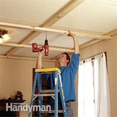 A quick, inexpensive way to transform a room—and a beautiful cover-up for damaged ceilings