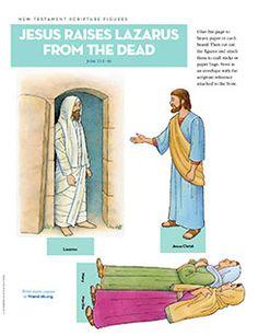 Scripture Figures, Jesus Raises Lazarus from the Dead--activity days, babysitting/mother's helper bags??
