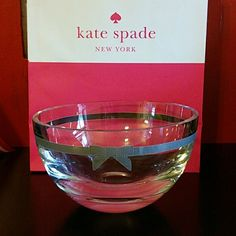 Kate Spade crystal Lenox Grace Avenue bowl Kate Spade crystal Lenox Grace Avenue bowl. Does have minor scratching as pictured. Not very noticeable unless looking up close. kate spade Other